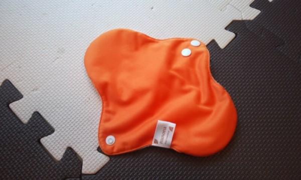 nunonaの立体布ナプキンマカロンオレンジ